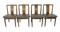 Set of 4 Mid-Century Danish Modern Folke Ohlsson Style Teak Dining Chairs
