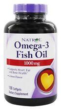 Natrol - Omega-3 Fish Oil Lemon Flavor 1000 mg. - 150 Softgels