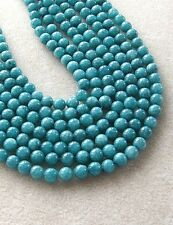 Teal Green Jade Beads, Jewelry Making and Beading, Full Strand, 8mm (1)