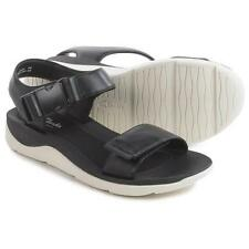 Clarks Artisan Caval Dixie Black Leather Women's Ankle Strap Sandal 10 M *New*