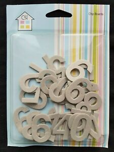 Pack of Decorate Yourself Numbers Craft Cardboard / Chipboard