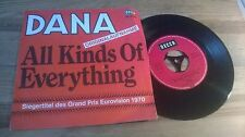 """7"""" Pop Dana - All Kinds Of Everything (2 Song) DECCA Grand Prix '70"""