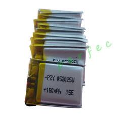 10 pcs 3.7V 180 mah Polymer  Li Battery lipo For Sat Nav driving recorder 052025