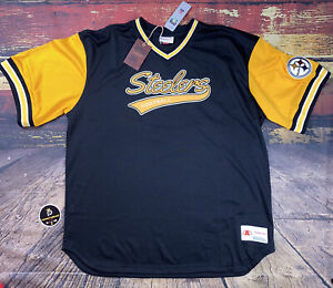 Mitchell & Ness Top Prospect Mesh V-Neck NFL Pittsburgh Steelers Jersey Shirt