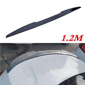 1.25M Car Rear Roof Lip Spoiler Tail Trunk Lid Wing Bonnet Sticker Gloss Black