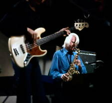 OLD MUSIC PHOTO Edgar Winter Plays The Saxophone Live On Stage In Denmark