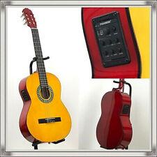 Gitarre 4/4 mit Tasche, Tonabnehmer Equalizer Stimmgerät und Plektrum Gitar