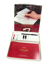 Vintage SHEAFFER CALLIGRAPHY FOUNTAIN PEN SET In Box, w/ Instructions &  3 Nibs