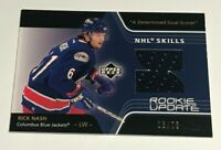Rick Nash /75 made Rookie Update Game Used Jersey Insert Parallel Hockey Card RC