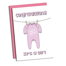 It's a Girl! Made in Sheffield New Born Baby card. Congratulations!