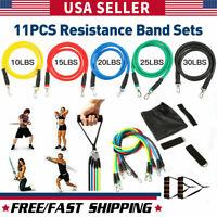 Resistance Bands Workout Exercise Yoga Set Crossfit Fitness Training Tubes 11Pcs