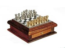 Dolls House Chess Set with Wooden Storage Drawer Miniature Study