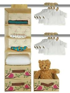 Nursery Closet Storage Organizer 20 Piece Set - Baby Closet Organization...
