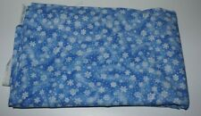 "1yd. x 44"", Cranston Print Works, ""Snowflakes"", Winter Scene, Cotton Fabric"