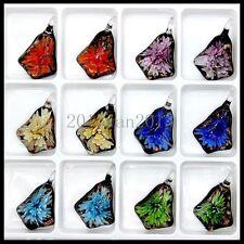 12 Pcs Fashion Women's Love lampwork Murano art glass beaded pendant necklace