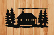 LOG CABIN WALL HANGING - WILDLIFE DECOR - GIFTS - CLINGERMANS
