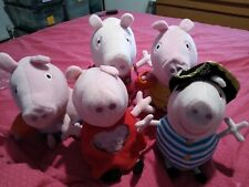 Peppa pig Plush Bundle, X 5, Toys, Tv Character, Plush