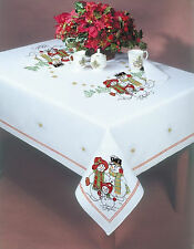 """Stamped Embroidery - Tobin Snowland 58"""" x 104"""" Tablecloth #T202784-104 SALE!"""