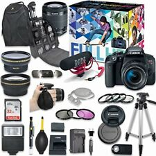 Canon EOS Rebel T7i DSLR Camera Deluxe Video Creator Kit+ Accessory Bundle