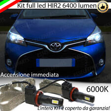 KIT FULL LED HIR2 HIR TOYOTA YARIS P15 LAMPADE LED 6000K NO AVARIA LUCI