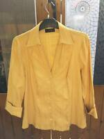 NEXT size 18 yellow women' top blouse shirt great condition with cotton stretch