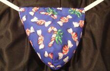 Mens CHRISTMAS CANDY Stocking Stuffer Gift Gstring Thong Underwear Male Lingerie