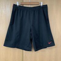 Nike Athletic Basketball Shorts Mens Size XL Black Red