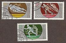 German Dem. Repub Scott 2384-86, Winter Olympics Sarajevo Unused CTOs FG NH 1983