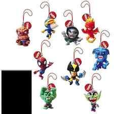 TOMY - SERIE COMPLETA 9 CIONDOLI MARVEL HEROES BIG HEAD HULK SPIDERMAN GOBLIN