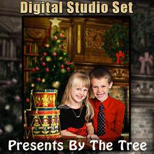 CHRISTMAS DIGITAL BACKGROUND BACKDROP & DIGITAL PROPS FOR PHOTOSHOP-PRESENTS