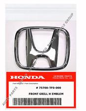 GENUINE HONDA EMBLEM & CLIPS Front Grille H Emblem Logo Nameplate Original OEM
