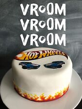 Hot wheels Edible Icing sheet Cake Toppers