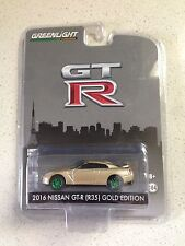 GREENLIGHT DIECAST 2016 NISSAN GT-R R35 GOLD GREEN MACHINE CHASE