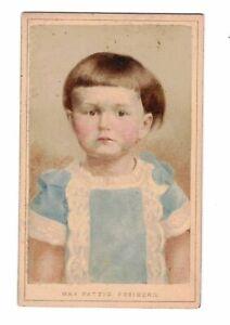 Coloré CDV Photo Enfant Portrait Max Patzig Freiberg 1890er (F2630