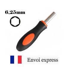 """Tournevis porte-embout magnétique - tête diamètre 6 1/4"""" 6.35mm - poignée hex"""