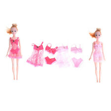 3Pcs/Set Barbie Doll Sexy Pajamas Lace Lingerie Nightwear For Barbie ClothesLA