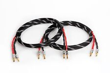 Canare 4S11 HI-FI Speaker Cable Pair, TechFlex Braided 2 to 2 Banana, 20 Ft