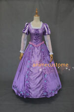 Tangled Princess Rapunzel Dress Halloween Cosplay Costume Adult S