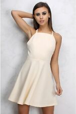 BNWT RARE LONDON@LIPSY LIMITED EDITION CREAM LACE UP BACK SKATER DRESS SIZE 14