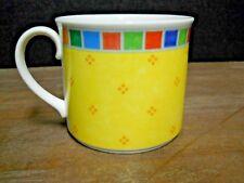 Breakfast Cup Twist Alea Limone Yellow Rim Block Band Villeroy & Boch