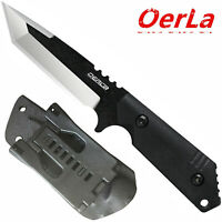 Oerla Field Knives Fixed Blade Straight Knife with G10 Handle and Kydex Sheath