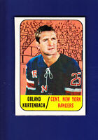 Orland Kurtenbach 1967-68 TOPPS Hockey #87 (VGEX+) New York Rangers