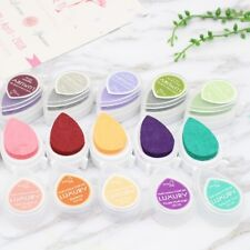 Dew Drop Ink Pad Pigment Oil Based Multi Color DIY Stamps Paper Craft Fabric