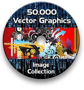 SCAN N CUT 50,000 IMAGE VECTORS VINYLS FILES ON DVD EPS SVG AI