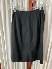 1950's Maternity Skirt- S/M - Black Cotton- Vg - Comfortable & Chic