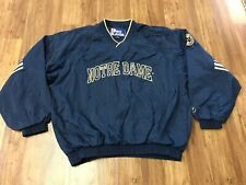 LARGE Vtg 90s NCAA Notre Dame Fighting Irish Pro Player Lined Windbreaker Jacket