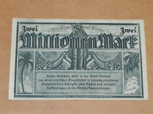 Germany-Bremen 2,000,000 Mark Hyper-Inflation Note 1923 Circulated JCcug k20