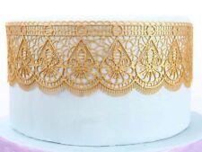 decorative GOLD  edible cake lace, wedding