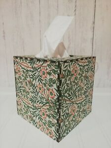 Tissue Box Cover Made W/ William Morris Sweet Briar Fabric Cube Square