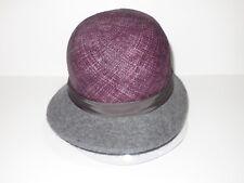 New Kangol Womens Dapper Felt & Straw Cloche Cap Hat Small